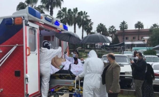 Korona hastası ambulans helikopter ile Adana'ya sevk edildi
