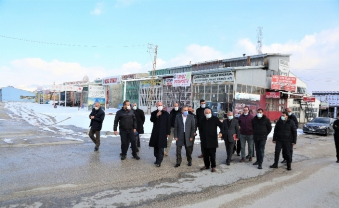 Milletvekili Arvas ve Belediye Başkanı Akman'dan sanayi sitesi esnafına ziyaret