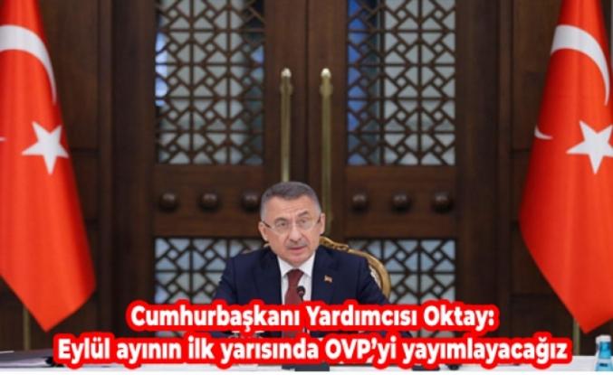 Cumhurbaşkanı Yardımcısı Oktay: Eylül ayının ilk yarısında OVP'yi yayımlayacağız