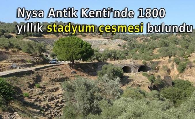 Nysa Antik Kenti'nde 1800 yıllık stadyum çeşmesi bulundu
