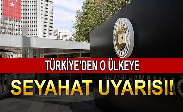 Türkiye'den Seyahat Uyarısı!
