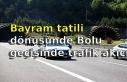 Bayram tatili dönüşünde Bolu geçişinde trafik...