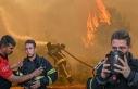 Balayını iptal edip yangına koştu