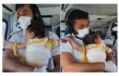 Üzerine sıcak su dökülen Beril bebek ambulans helikopterle Eskişehir'e sevk edildi