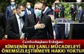Erdoğan: Kimsenin bu şanlı mücadeleyi önemsizleştirmeye hakkı yoktur