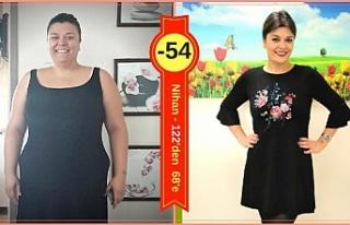 55 kilo hayatını değiştirdi
