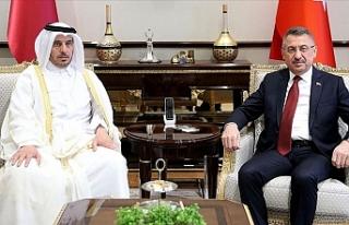 Fuat Oktay, Katar Başbakanı Al Sani ile görüştü