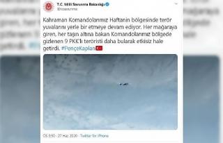 MSB: Haftanin'de 9 PKK'lı terörist etkisiz...