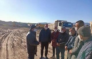 Adıyaman'da asfalt plenti inşaatı devam ediyor