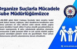 Ankara'da taksicilere dadanan şehir eşkıyalarına...