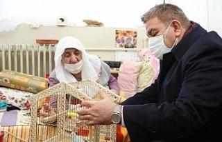 Başkan Sunar, kedisi kaybolan Sevgi nineye muhabbet...