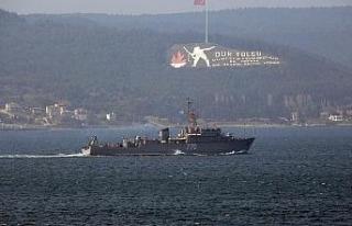 Rus savaş gemisi 'Valentin Pikul' Çanakkale...