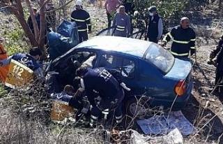 Şarampole uçan aracın sürücüsü hayatını kaybetti,...