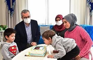 Şehidin oğluna doğum günü sürprizi
