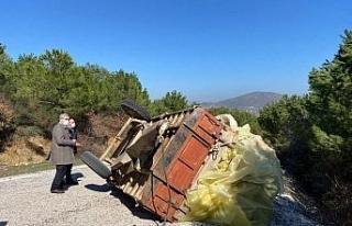 Sındırgı'da traktör kazasında 2 bacanak hayatını...
