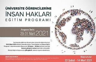 YTB'nin İnsan Hakları Online Eğitim Programı'na...