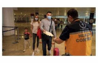 40 günde 234 bin turistin geldiği havalimanında...