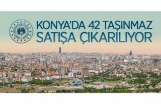 Konya Selçuklu, Karatay ve Meram'da 42 adet taşınmaz...