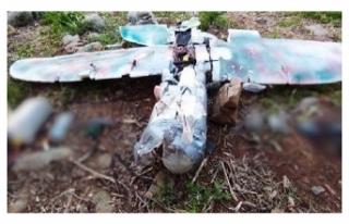 PKK'nın maket uçağı, vurularak düşürüldü