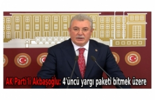 AK Parti'li Akbaşoğlu: 4'üncü yargı paketi...
