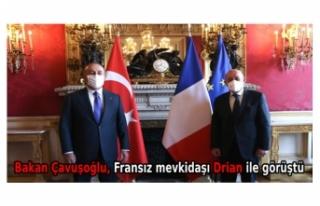 Bakan Çavuşoğlu, Fransız mevkidaşı Drian ile...
