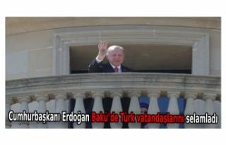 Cumhurbaşkanı Erdoğan Bakü'de Türk vatandaşlarını...