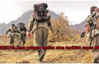 İçişleri: 1 PKK'lı terörist daha teslim...