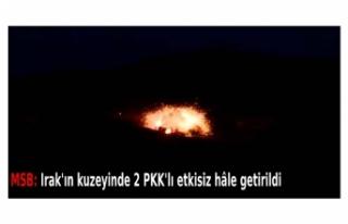 MSB: Irak'ın kuzeyinde 2 PKK'lı etkisiz...