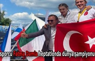 Özel sporcu Fatma Damla heptatlonda dünya şampiyonu...