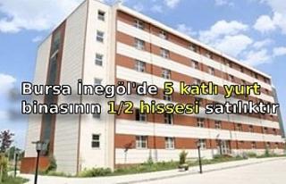 Bursa İnegöl'de 5 katlı yurt binasının 1/2...