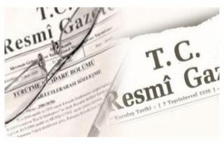 Resmi Gazete'de yayımlanan kararla 33 ile yeni...