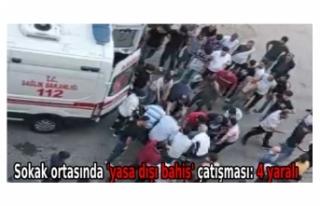 Sokak ortasında 'yasa dışı bahis' çatışması:...