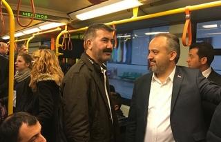 Aktaş'ın mesaisi  metroda başladı