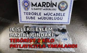 İçişleri: Eylem hazırlığındaki terörist 2 kilo patlayıcıyla yakalandı