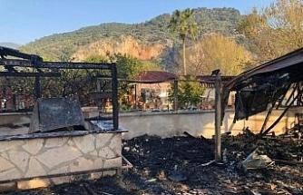 Dalyan'da pansiyonda yangın