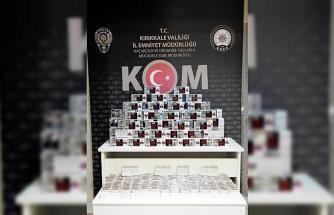 Kırıkkale'de kaçak tütün operasyonu: 29 bin 500 makaron ele geçirildi