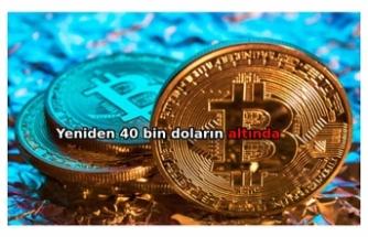 Bitcoin yeniden 40,000 doların altına indi