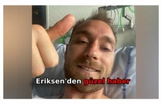 Christian Eriksen'den ilk mesaj: 'Kendimi iyi hissediyorum'