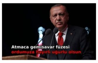 Cumhurbaşkanı Erdoğan'dan 'Atmaca Gemisavar Füzesi' paylaşımı