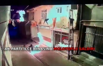 Diyarbakır'da AK Parti Hani ilçe binasına molotoflu saldırı