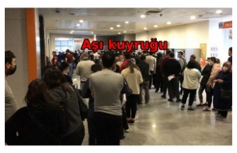 İstanbul'da iş çıkışı hastanelerde aşı yoğunluğu
