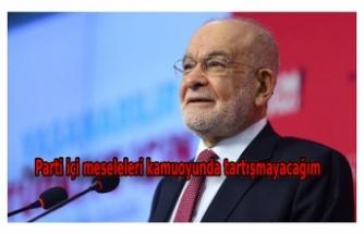 Karamollaoğlu: Parti meselelerini kamuoyunda tartışmamaya kararlıyım