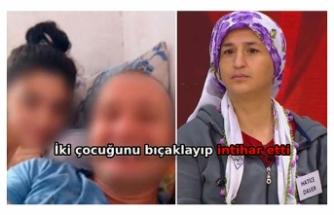 Kızı, üvey babasıyla kaçan kadın, 2 çocuğunu bıçaklayıp intihar etti