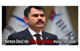 Marmara Denizi'nde 4 bin 202 metreküp müsilajı temizledik