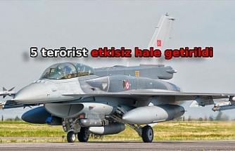 MSB: Irak'ın kuzeyinde 5 PKK'lı etkisiz hale getirildi