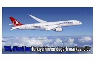 THY, 4'üncü kez Türkiye'nin en değerli markası oldu