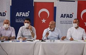 5 Bakan Manavgat'ta kriz masasında bir araya geldi