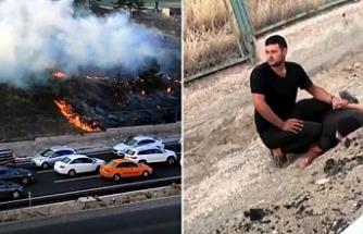 Askeriyedeki ormanlık alanı ateşe verdi, suçüstü yakalandı
