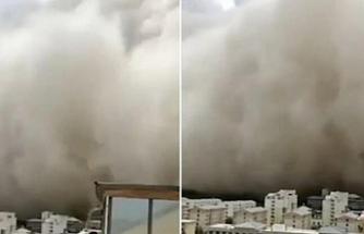 Kum fırtınası şehri yuttu!