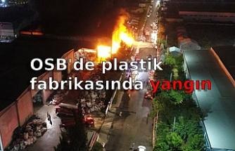 OSB'de plastik fabrikasında yangın